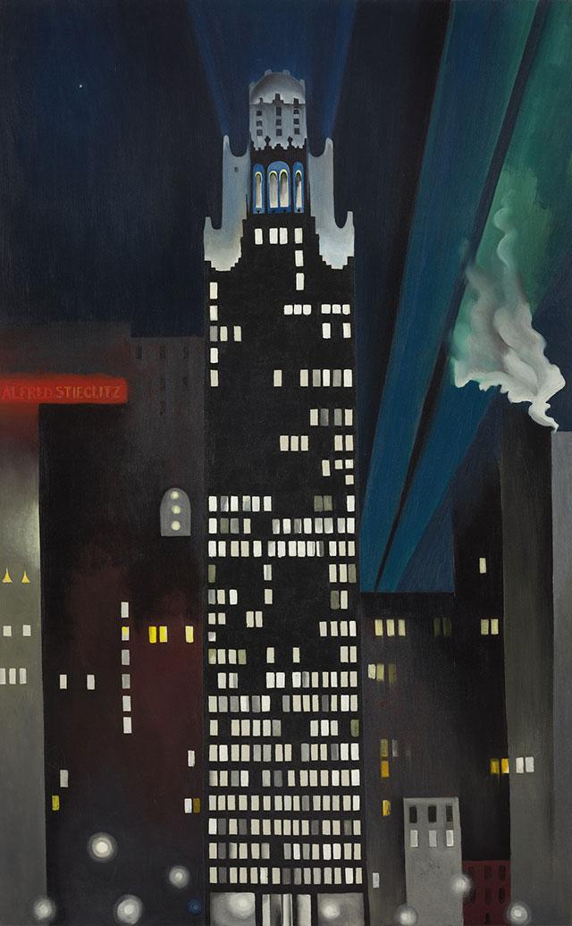 ジョージア・オキーフ《ラジエーター・ビルの夜景、NY》