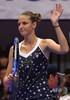 女子テニス、東レ・パンパシフィック・オープン、シングルス決勝。勝利を喜ぶカロリーナ・プリスコバ(2018年9月23日撮影)。(c)Toshifumi KITAMURA / AFP