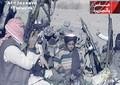 少年時代のハムザ・ビンラディン容疑者。アフガニスタン旧支配勢力タリバンの最高指導者オマル師をたたえる詩を朗読する様子。中東の衛星テレビ局アルジャジーラが放送した動画より(2001年11月7日作成)。(c)AFP/AL-JAZEERA