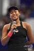 女子テニス、東レ・パンパシフィック・オープン、シングルス決勝。試合後のスピーチに臨む大坂なおみ(2018年9月23日撮影)。(c)Toshifumi KITAMURA / AFP