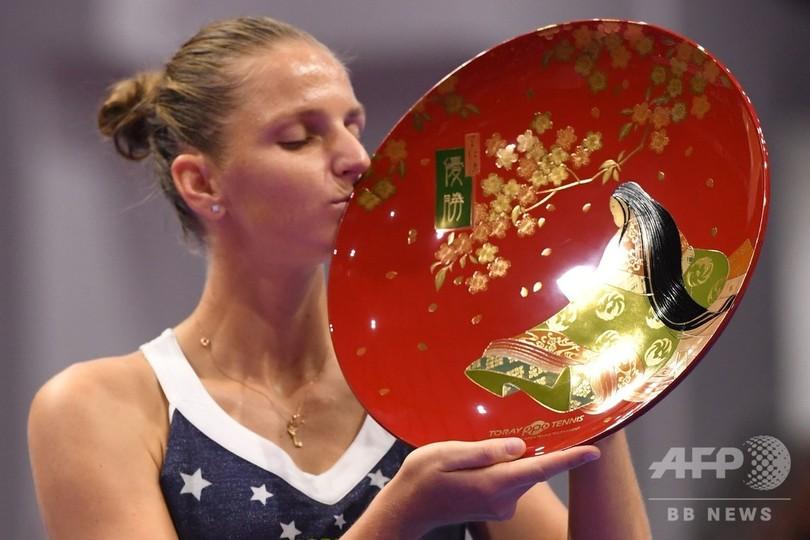 2018年大会で優勝したチェコのカロリーナ・プリスコバ(2018年9月23日撮影)。(c)AFP/Toshifumi KITAMURA