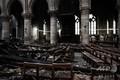 大火災から約1か月が経過した仏パリのノートルダム大聖堂の内部(2019年5月15日撮影)。(c)Philippe LOPEZ / POOL / AFP