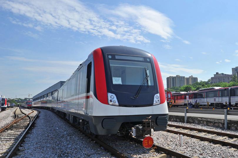 中車株洲電力機車有限公司が製造した地下鉄車両(撮影日不明)。(c)Xinhua News